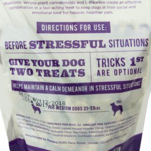 Therabis CBD Treats Calm and Quiet Medium Dogs Back