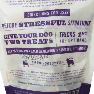 Therabis CBD Treats Calm and Quiet Small Dogs Back