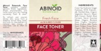 abinoid botanicals face toner label